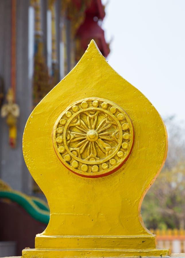 Sema is een symbool in de tempel van Boeddhisme stock afbeeldingen