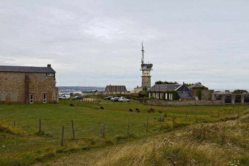 Semafor na nakrętce Fagnet, Normandy zdjęcie royalty free