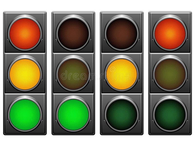 Semafori. illustrazione vettoriale