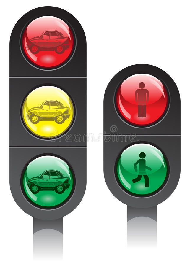 Semafori illustrazione di stock