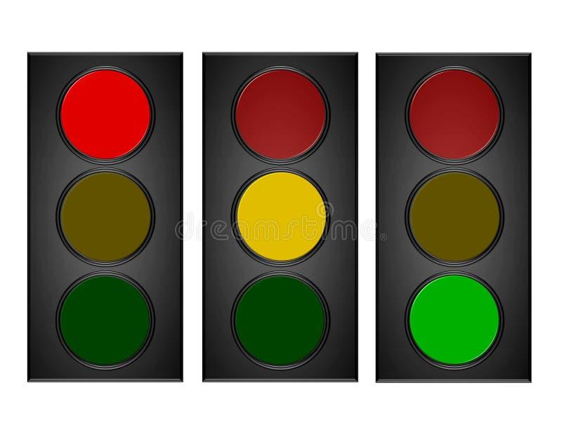 Semafori illustrazione vettoriale