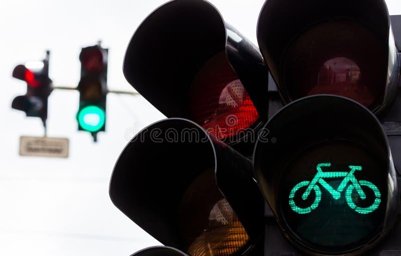 Semafori a Bucarest immagine stock libera da diritti