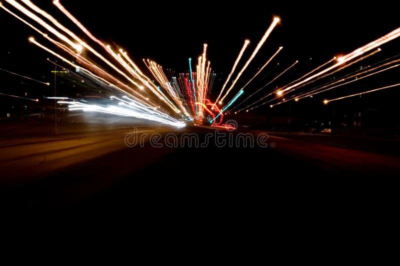 Semafori di notte fotografia stock