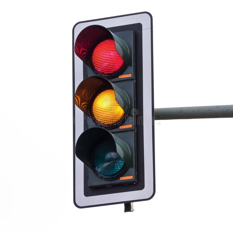 Semafori (rosso ed arancio) fotografia stock libera da diritti
