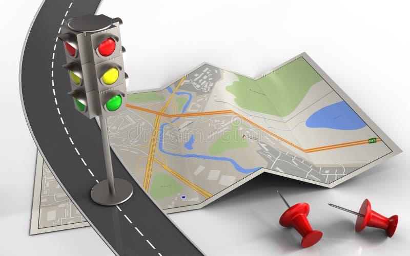 semaforo 3d illustrazione di stock