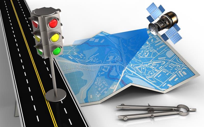 semaforo 3d illustrazione vettoriale