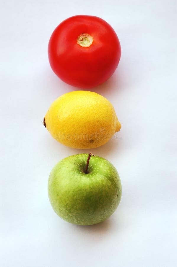 Semaforo della frutta immagini stock