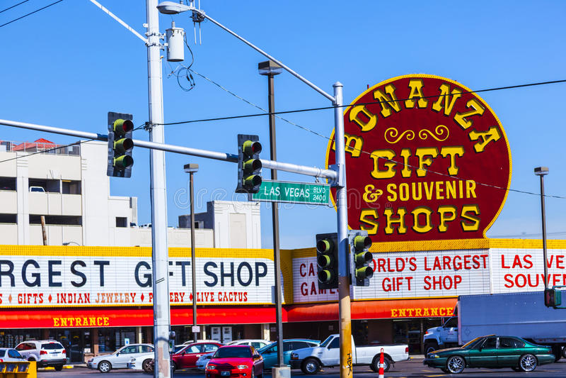 Semaforo di Las Vegas fotografia stock