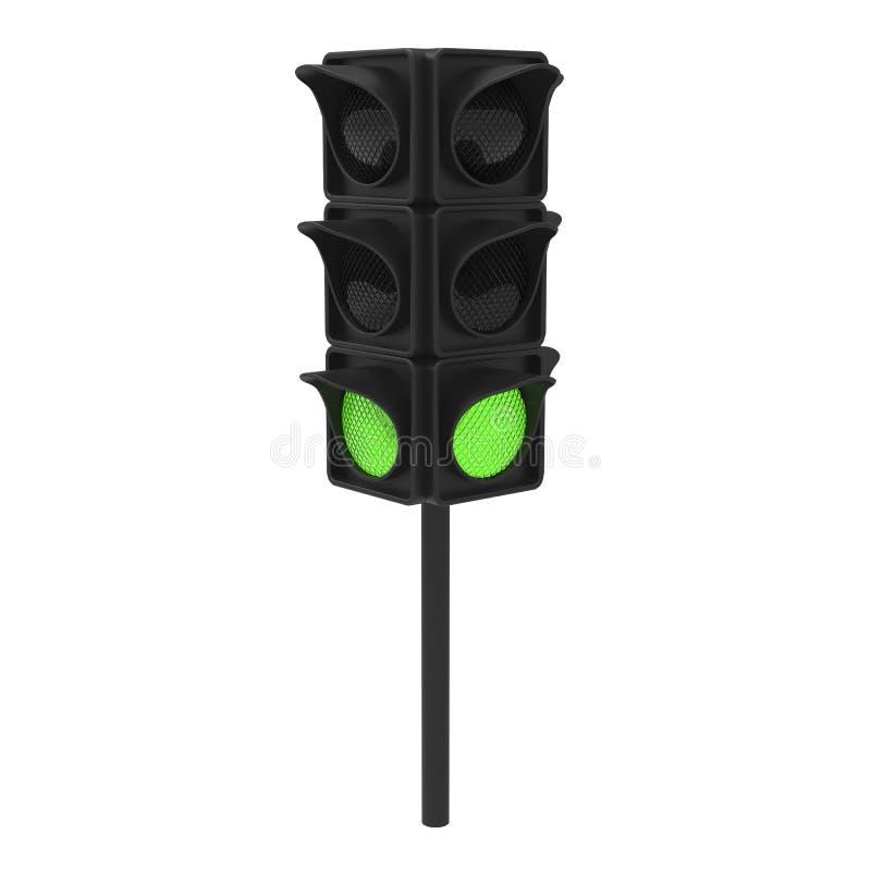 semaforo di verde dell'illustrazione 3D illustrazione di stock
