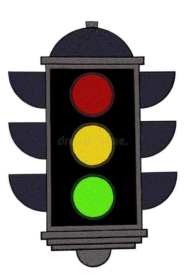 Semaforo/segnale royalty illustrazione gratis