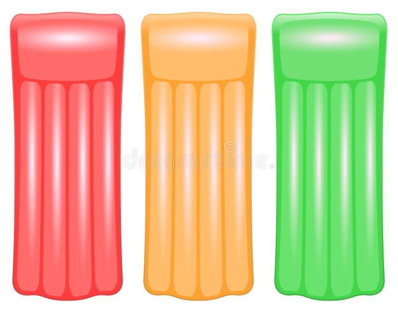 Semaforo verde arancio rosso del materasso di aria illustrazione vettoriale
