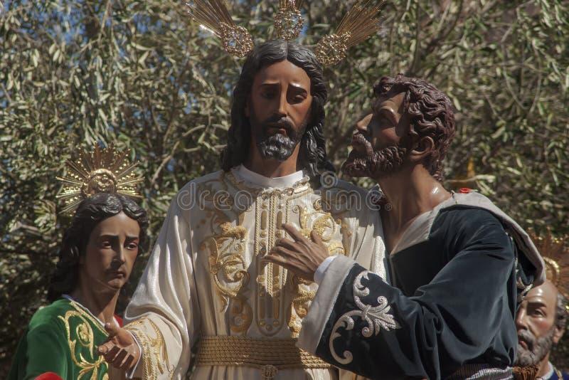 Semaine sainte en Séville, Judas Kiss images libres de droits