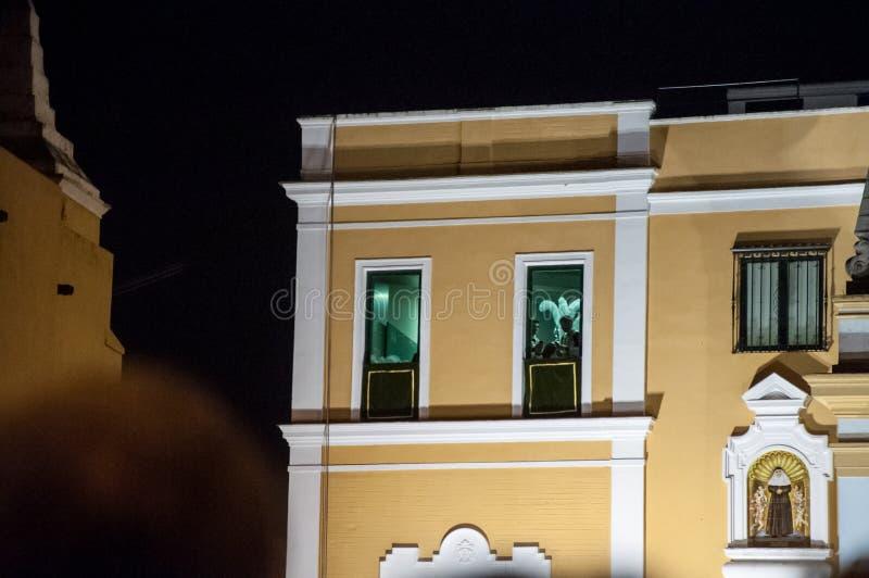Semana圣诞老人在塞维利亚 库存照片