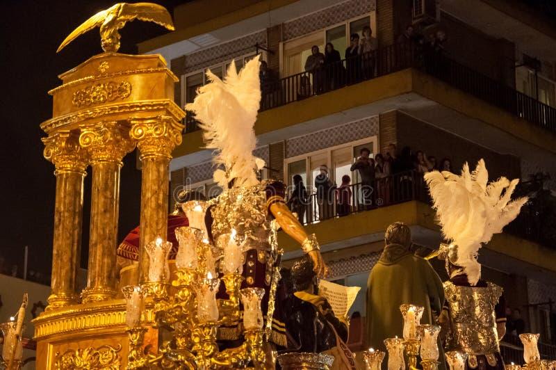 Semana圣诞老人在塞维利亚 免版税图库摄影
