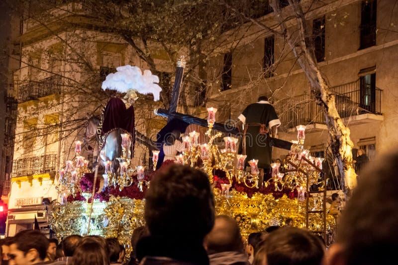 Semana圣诞老人在塞维利亚 免版税库存照片