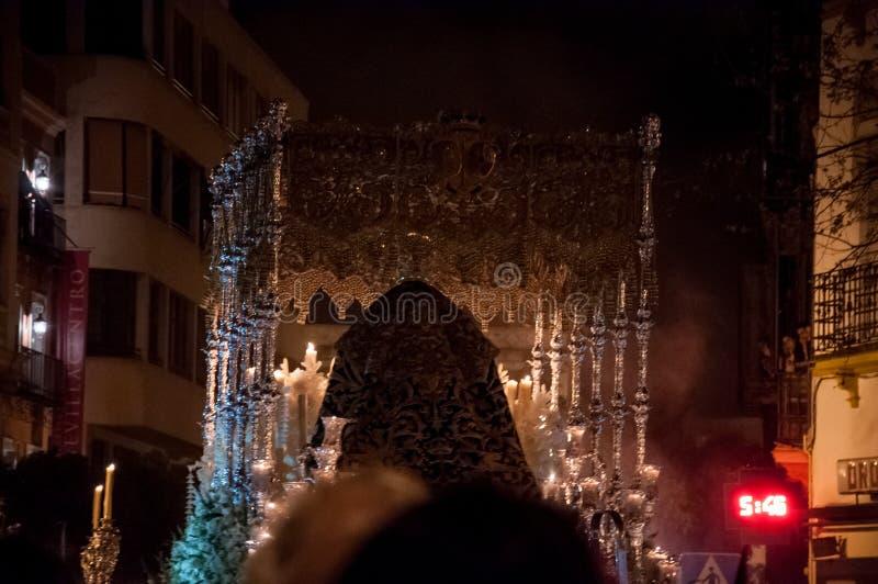 Semana圣诞老人在塞维利亚 免版税库存图片