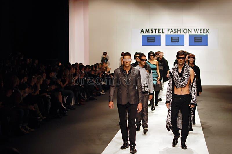 Semana da forma de Amstel, Belgrado fotografia de stock