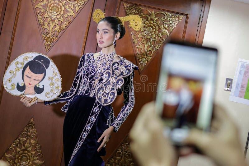 SEMANA DE LA MODA DE INDONESIA ` DE LA DEMOSTRACIÓN DE LA ABERTURA DEL ` DE 2018 DÍAS 1 foto de archivo libre de regalías
