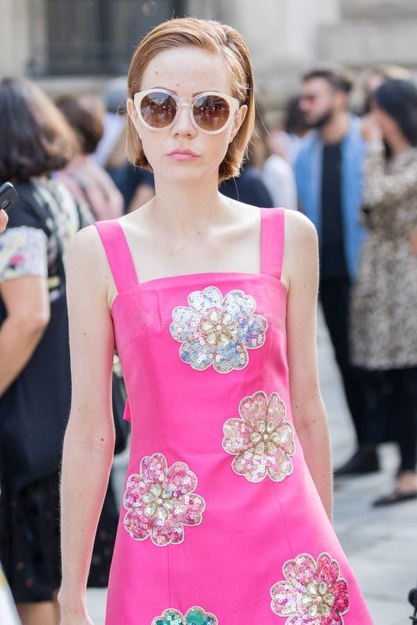Semana 2018 de la moda de la mujer de Milán fotos de archivo libres de regalías