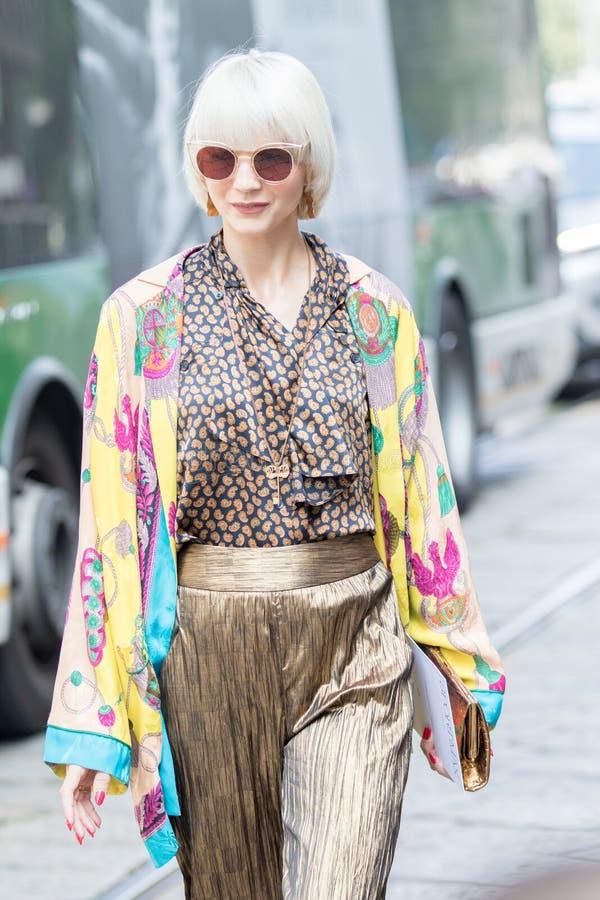 Semana 2018 de la moda de la mujer de Milán imagenes de archivo