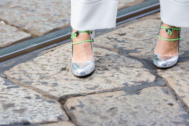 A semana de moda 2018 da mulher de Milão fotografia de stock