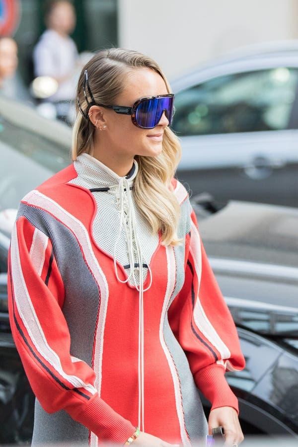 A semana de moda 2018 da mulher de Milão fotos de stock royalty free