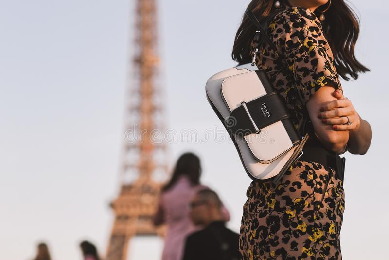 A semana de moda de Paris - estilo da rua - PFWAW19 fotografia de stock royalty free