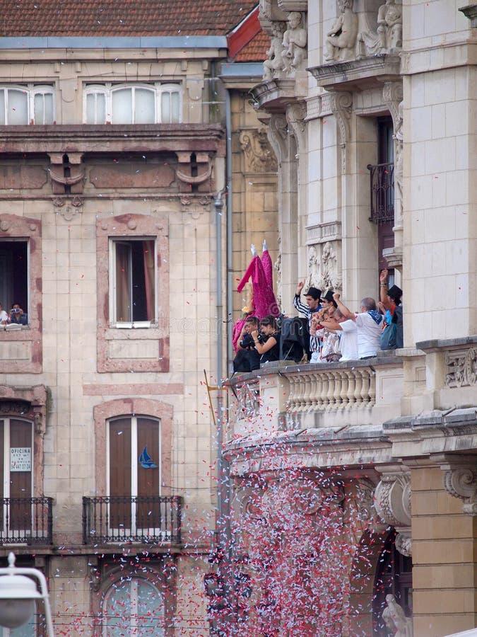 Semana Grande Inaugural Event In Bilbao Editorial Stock Photo