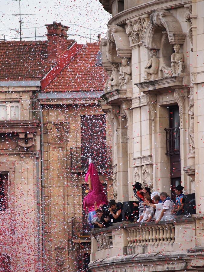 Semana Grande Inaugural Event In Bilbao Editorial Stock Image