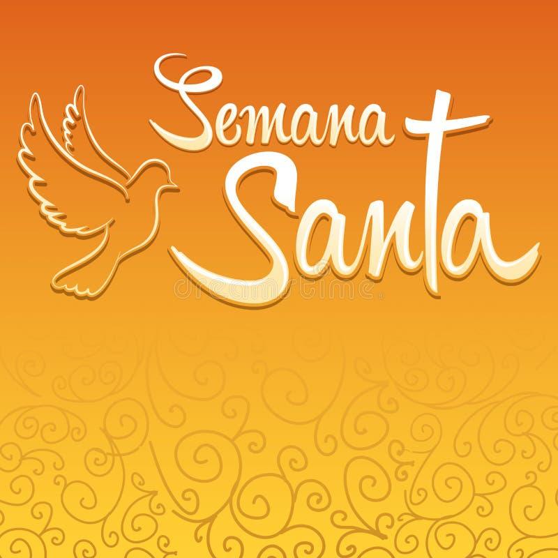 Semana Papá Noel - texto del español de la semana santa ilustración del vector