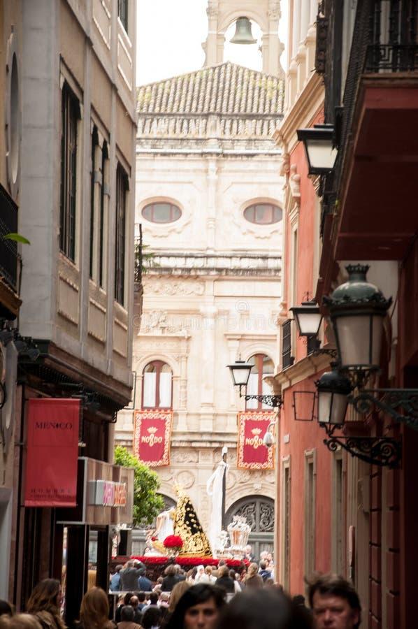 Semana Santa à Séville photos libres de droits