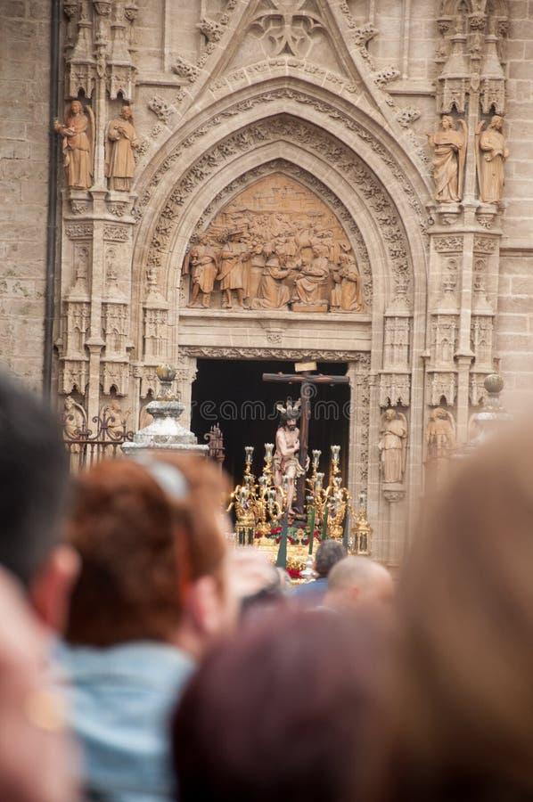 Semana Santa à Séville image libre de droits