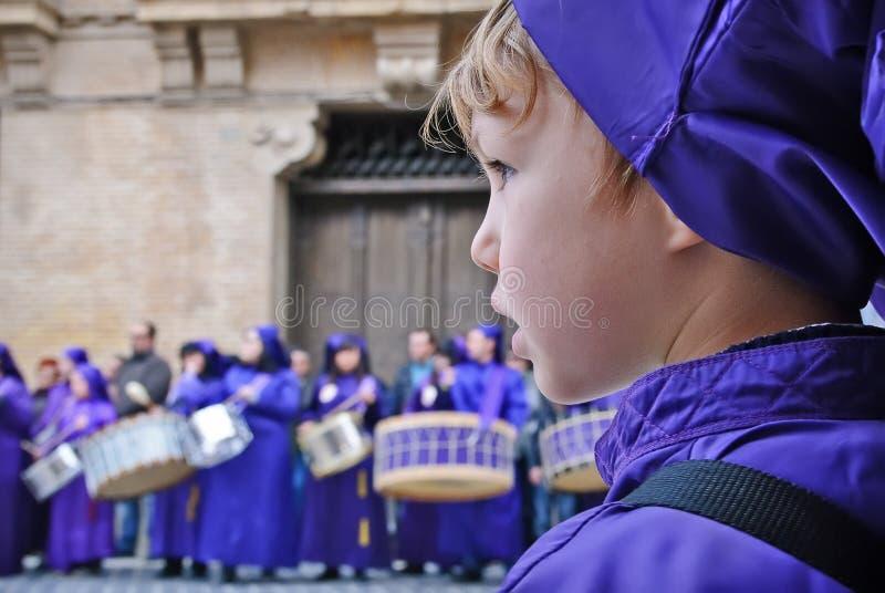 Semana santa en Calanda, Aragon, España imágenes de archivo libres de regalías