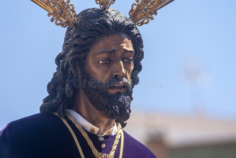 Semana santa en el cautivo de Sevilla Jes?s y rescatada fotos de archivo libres de regalías