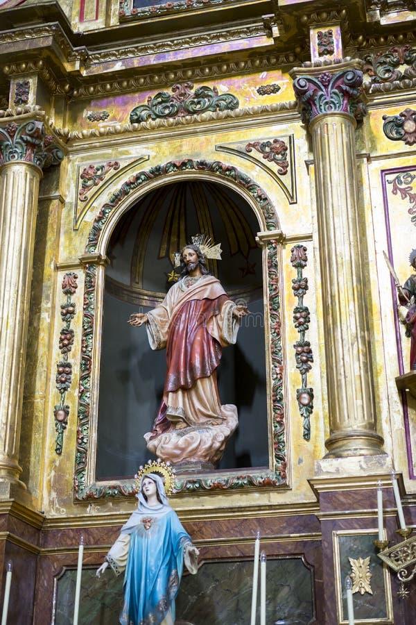 Semana santa en España, imágenes de vírgenes y representaciones de Chr imagen de archivo libre de regalías