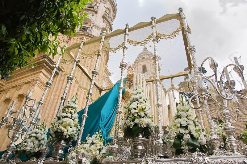 Semana santa en Málaga imagenes de archivo