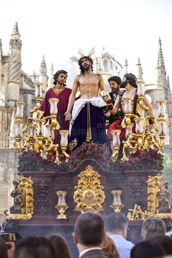 Semana santa en Sevilla, Andalucía, España foto de archivo