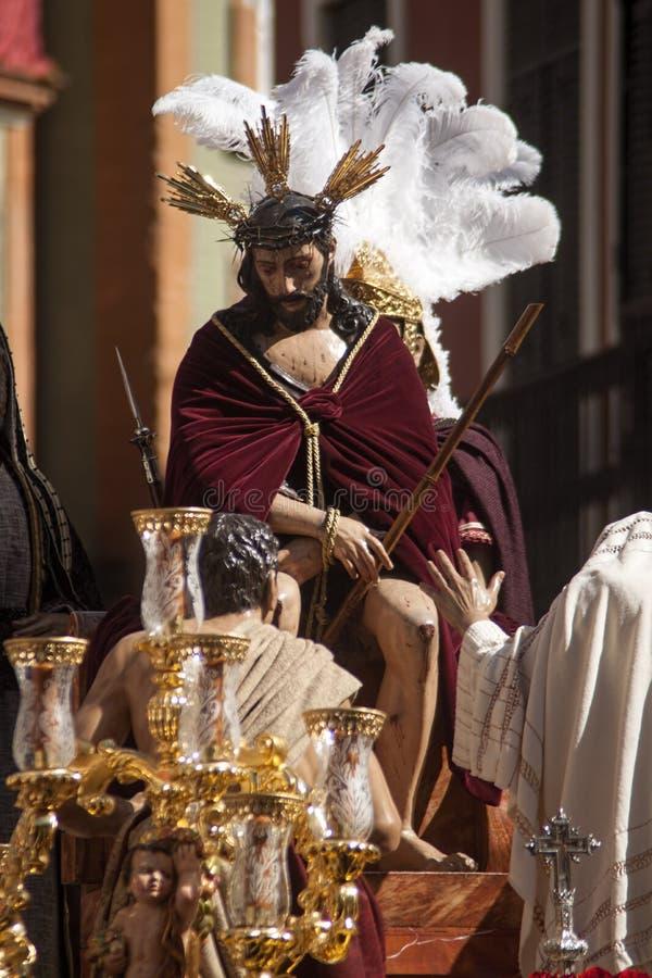 Semana santa en Sevilla, fraternidad de San Esteban foto de archivo libre de regalías