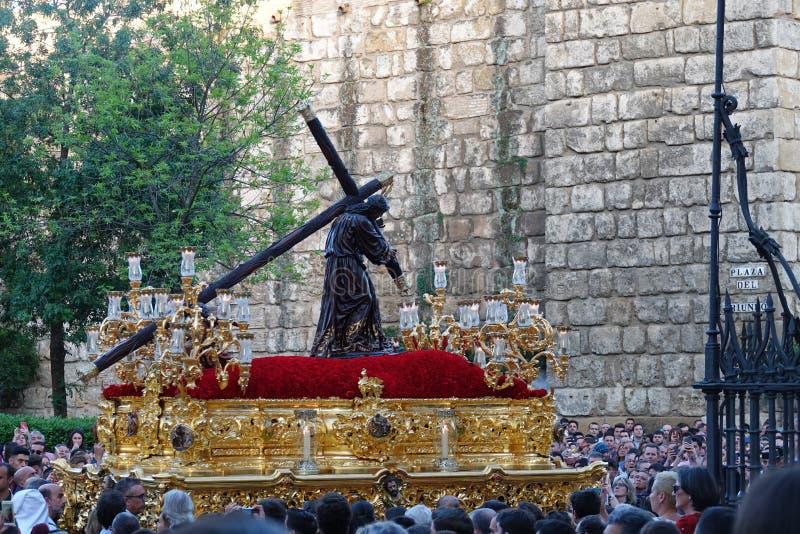 Semana Santa Pasos à Séville, Andalousie photo stock