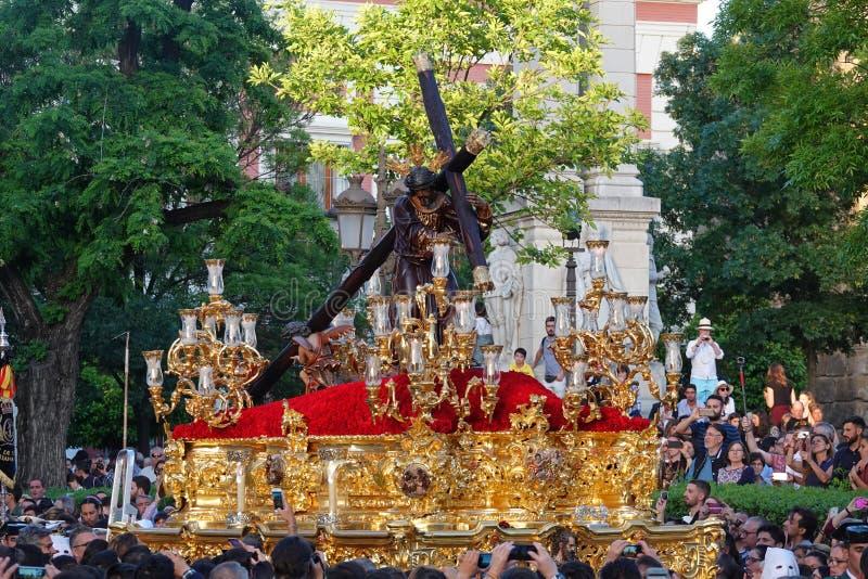 Semana Santa Pasos ? S?ville, Andalousie photographie stock libre de droits