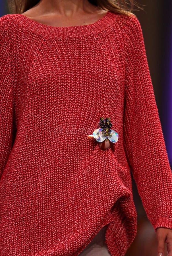 Semana ucraniana SS19 de la moda: colección por T MOSCA fotos de archivo libres de regalías