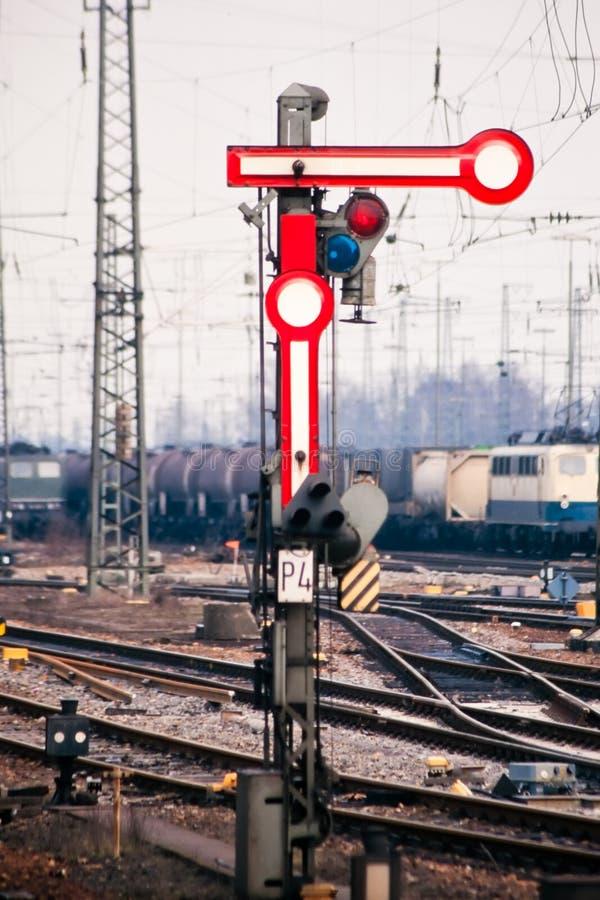 Semaphore railway velho foto de stock royalty free