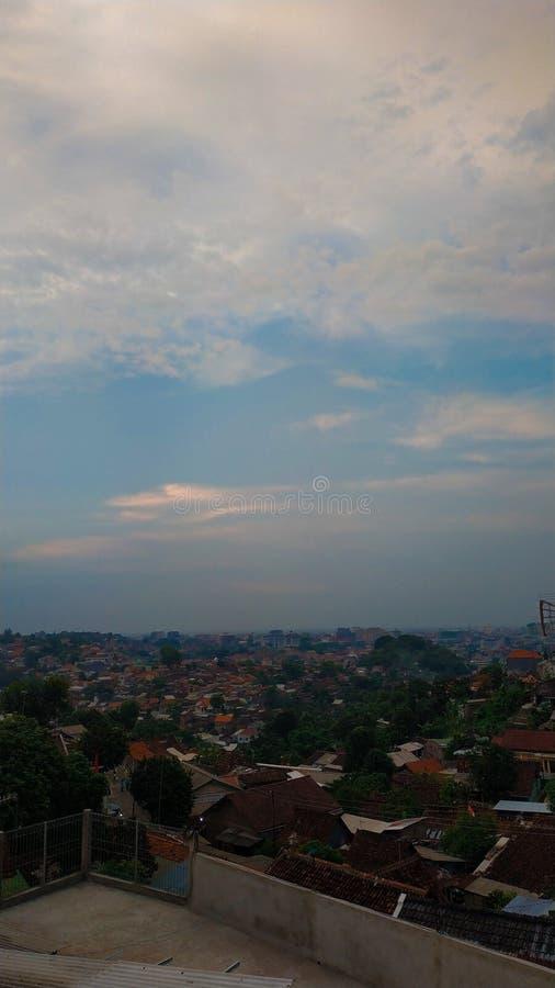 Semarang-Ansicht von den Hügeln lizenzfreies stockfoto
