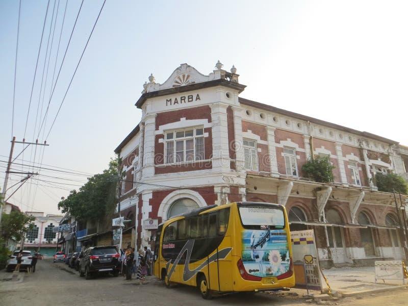 Kota Lama Semarang. Semarang, Indonesia - October 28, 2018: Working progress of revitalization project in Kota Lama. Some cultural heritage old buildings are royalty free stock photo