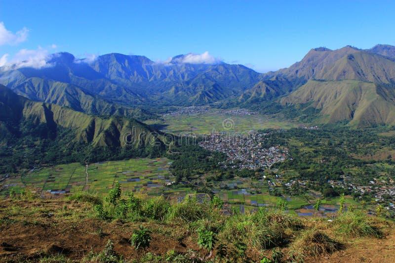 Sembalun-Dorf lizenzfreies stockbild