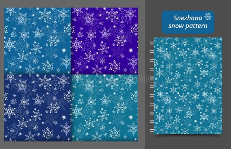 Semblable de Noël pour les flocons de neige blancs en hiver. Illustration vectorielle illustration stock
