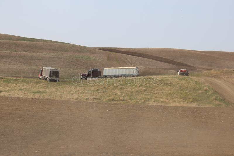 Sembrador en Saskatchewan imagenes de archivo