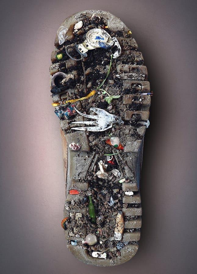 Semelle de la chaussure images libres de droits