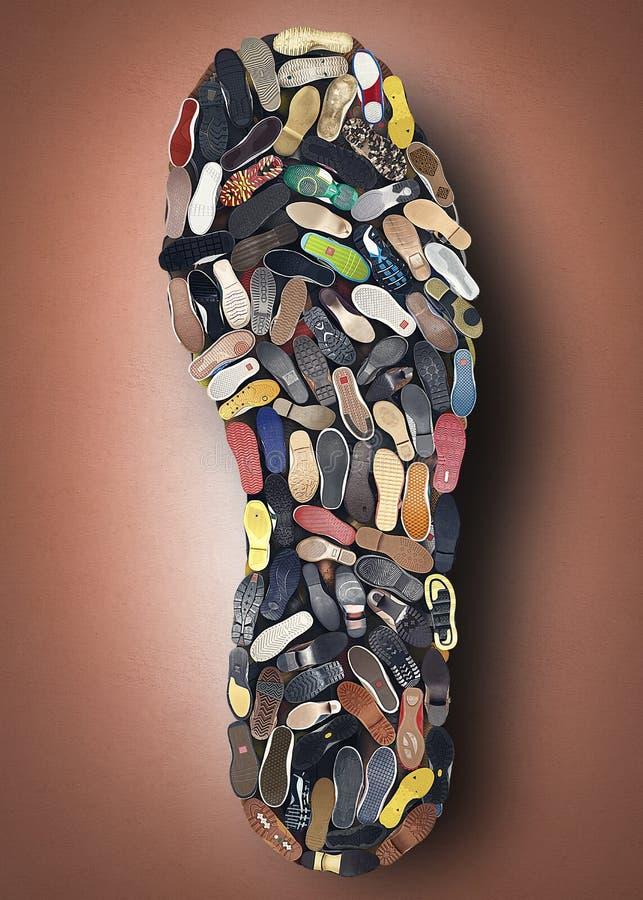 Semelle de la chaussure photo libre de droits