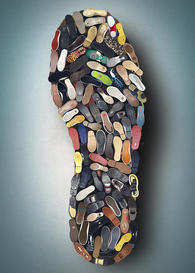 Semelle de la chaussure illustration stock